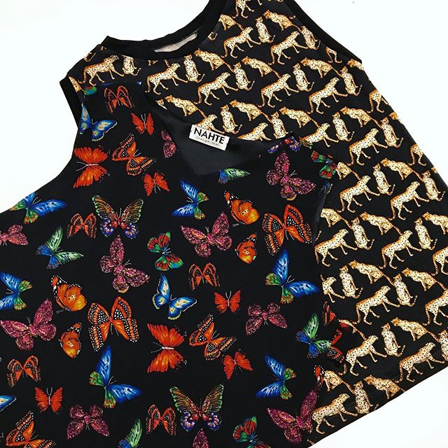 Animal print tanks out for delivery