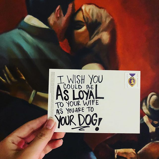 💍 Don't get me started. . . . . . . . . . . . . #marriage #soulmate #dog #postcards #postcardswap #postcardfromtheworld #writers #writersofinstagram #quotes #hopes