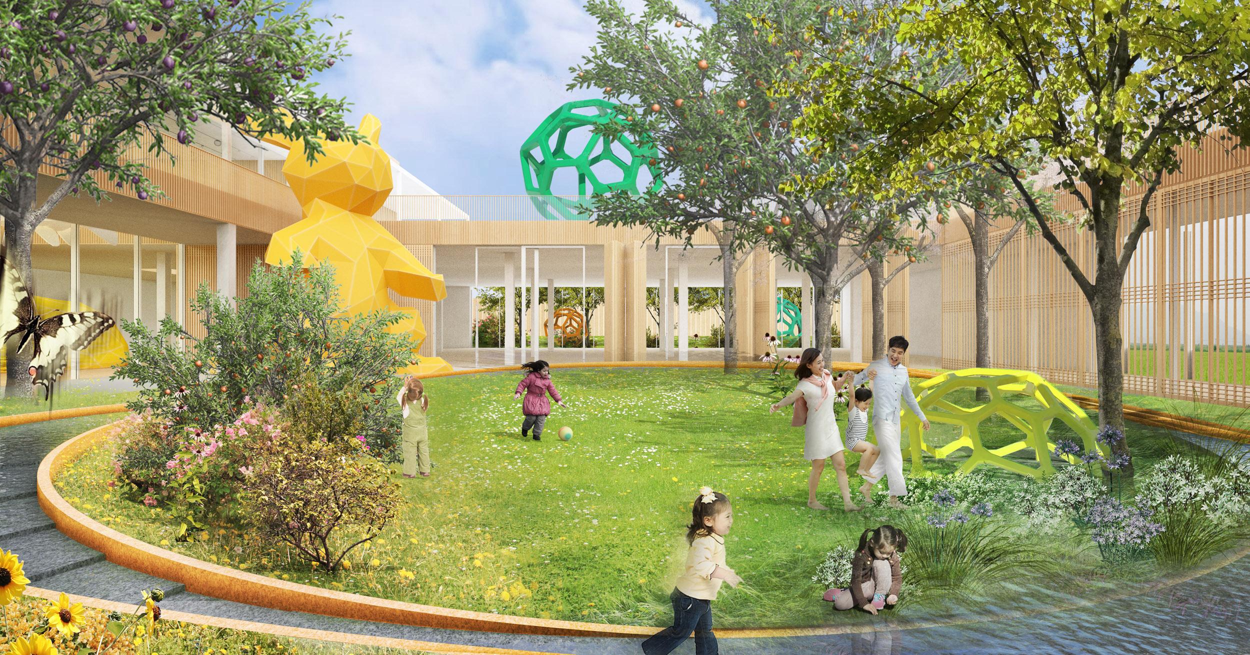 Children's Museum exhibition courtyard