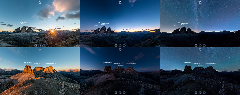 Alcuni screenshot tratti dal Virtual Tour