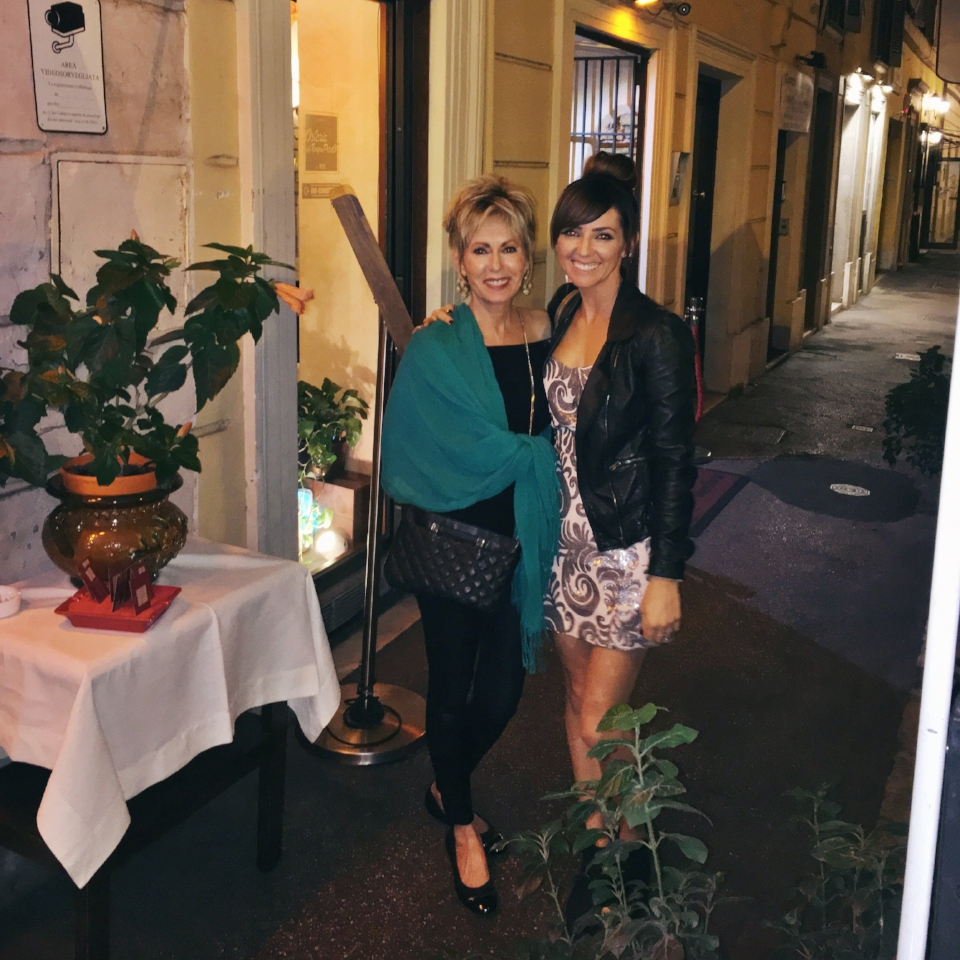 Dinner on our last night in Rome