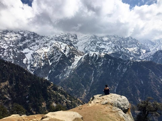 atop triund, soaking in the magic of the himalayas