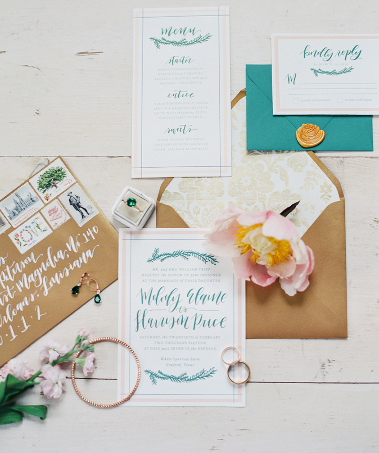 Custom Wedding Invitations - Goldie Design Co.