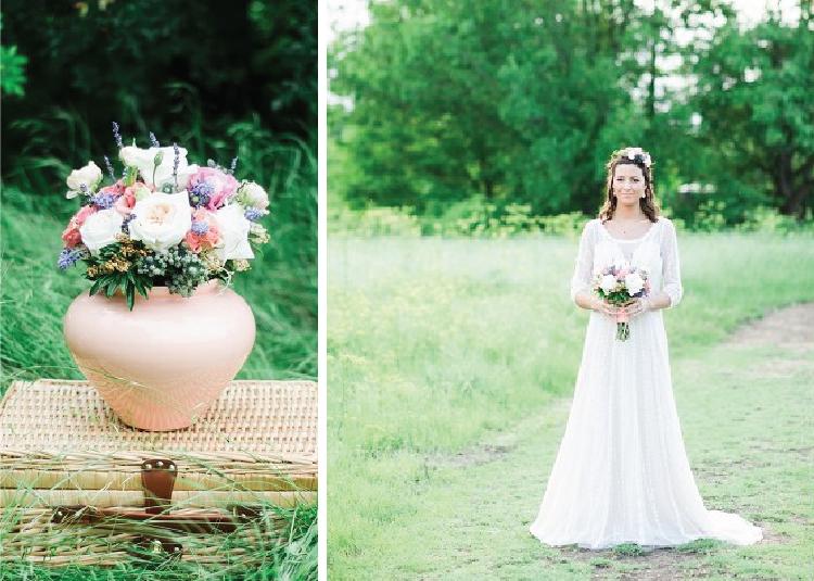 Bohemian wedding inspiration for Arbor Hills wedding.