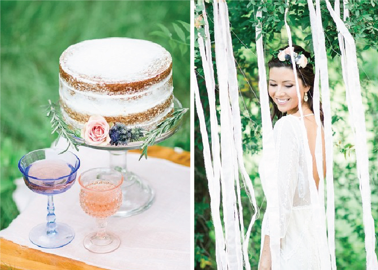 Simple naked cake for Arbor Hills Plano wedding.