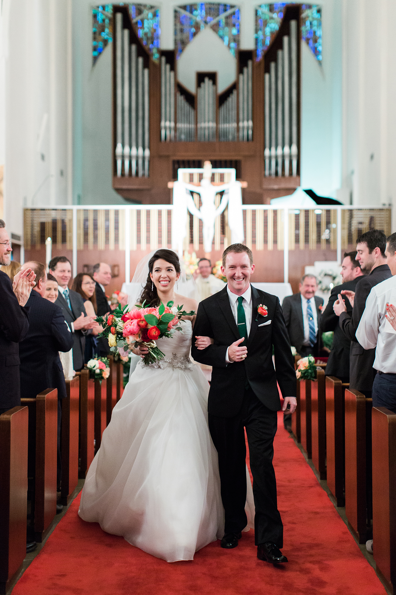 The ceremony took place at Holy Trinity Catholic Church in Fort Worth, Texas