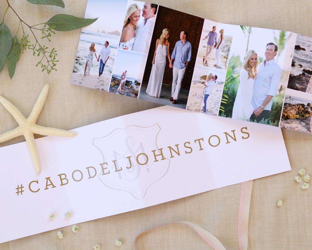 Cabo San Lucas destination wedding Save the Date design