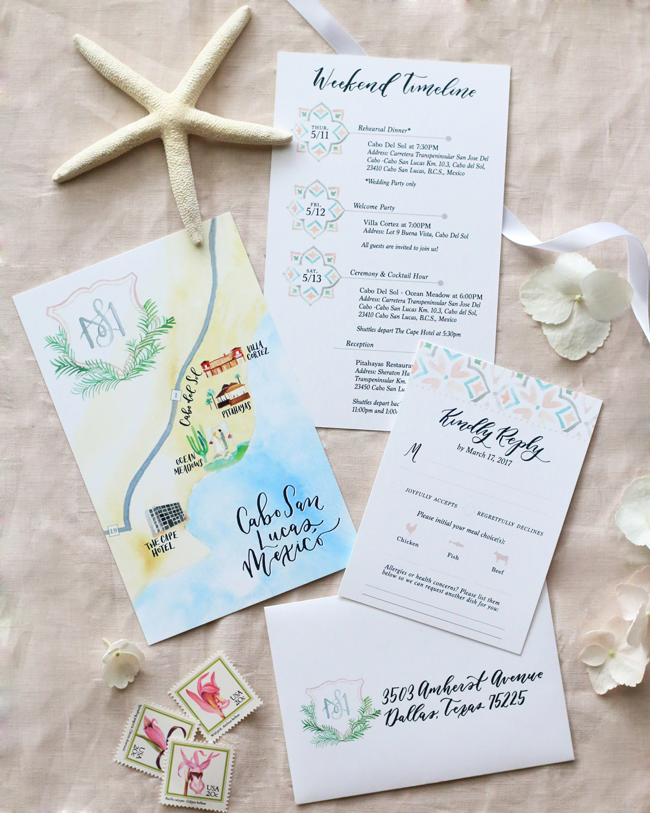 cabo san lucas destination wedding map