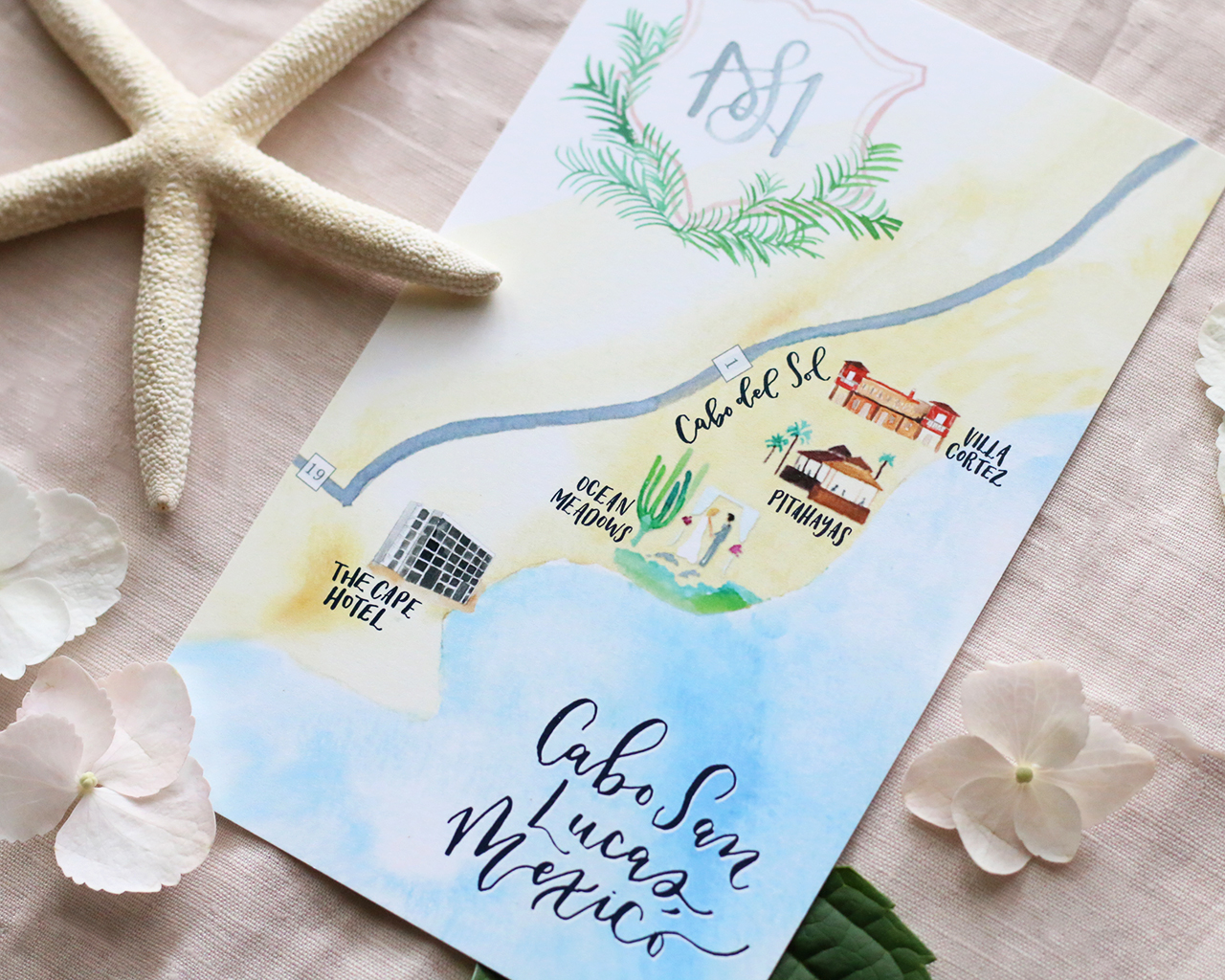 cabo san lucas destination wedding invitations