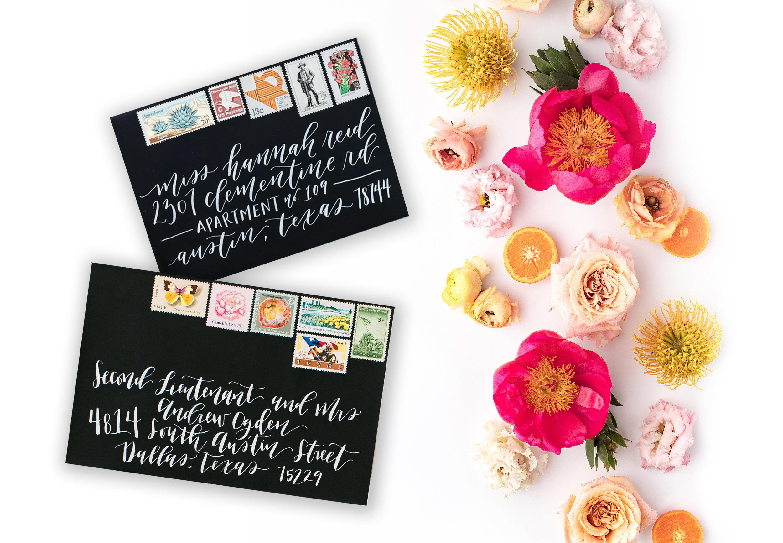 custom wedding invitations with vintage stamps