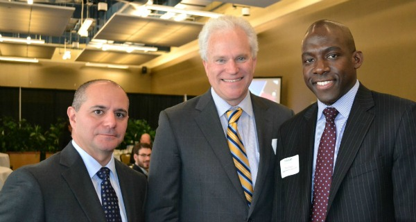 Christopher Schoepflin, Western New York Regional Director ,  Empire State Development  (left); William Gresser, President,  EB-5 New York State Regional Center  (center); and Tony Davis, Community and Economic Development Director,  Federal Reserve Bank of New York .