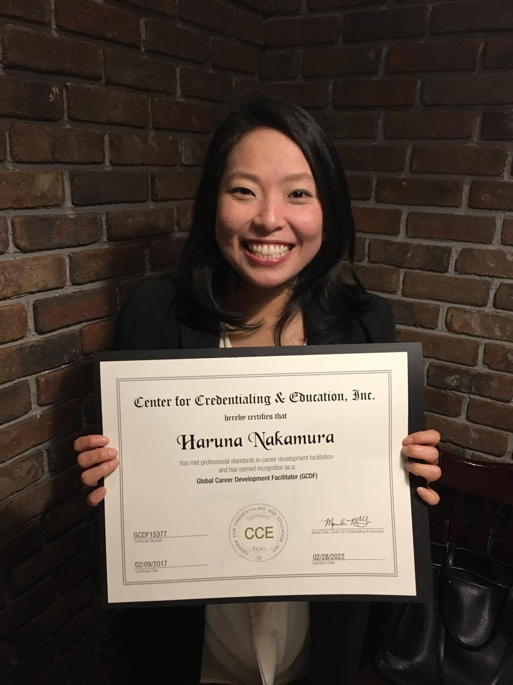 Our Manager Haruna Nakamura is now certified as Global Career Development Facilitator (GCDF). She has worked very hard for this achievement (yes, she is a working mother!). Congrats Haruna!!! We are so proud of you, and thank you for being an awesome member at NYCA!!!