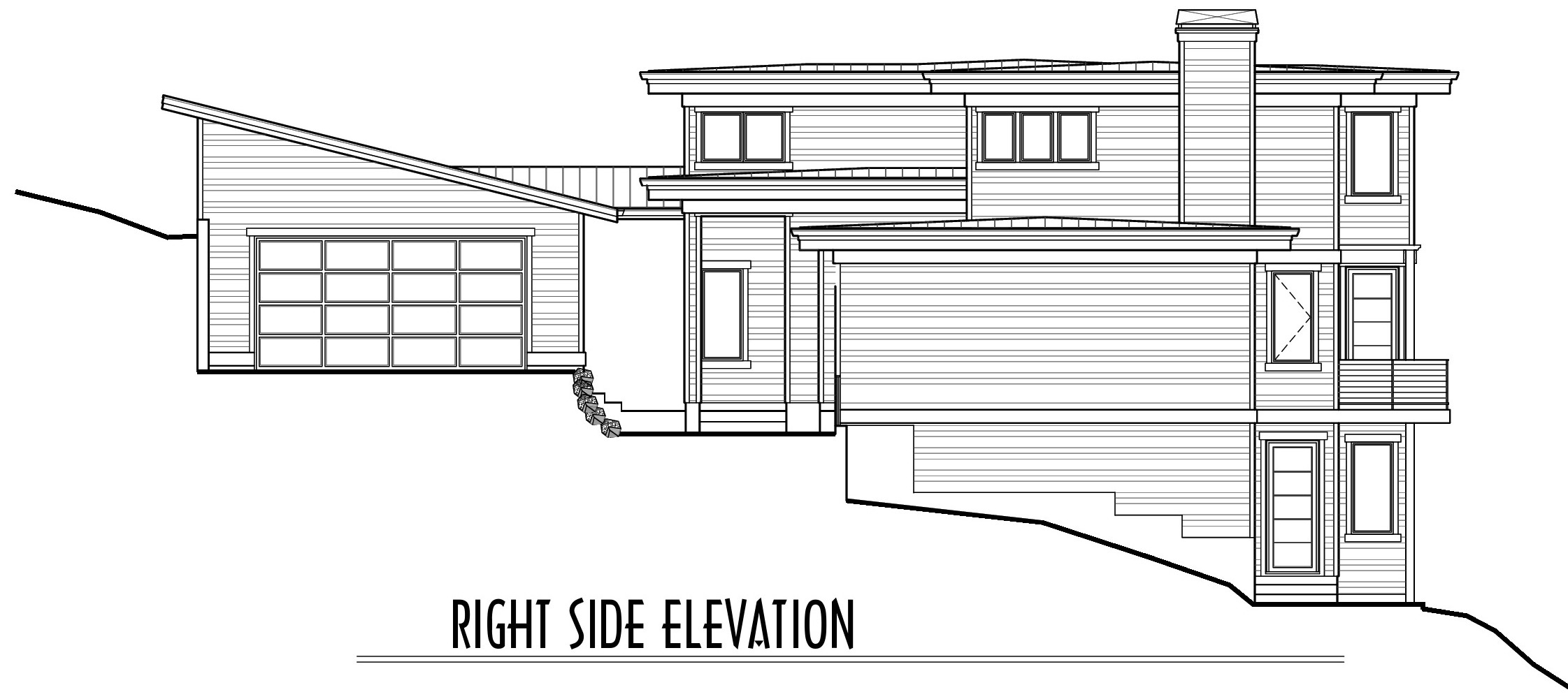 Awbrey Pointe - Lot 13 - Custom Duplex (PS-1550-18) - Final Plan SET-Side Elevation Sales.jpg