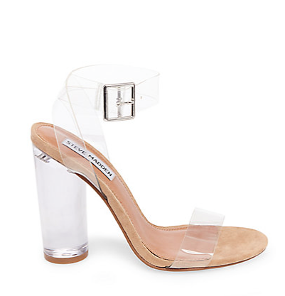 Steve Madden Clear Strappy Heel