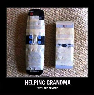 Helping Grandma with the remote