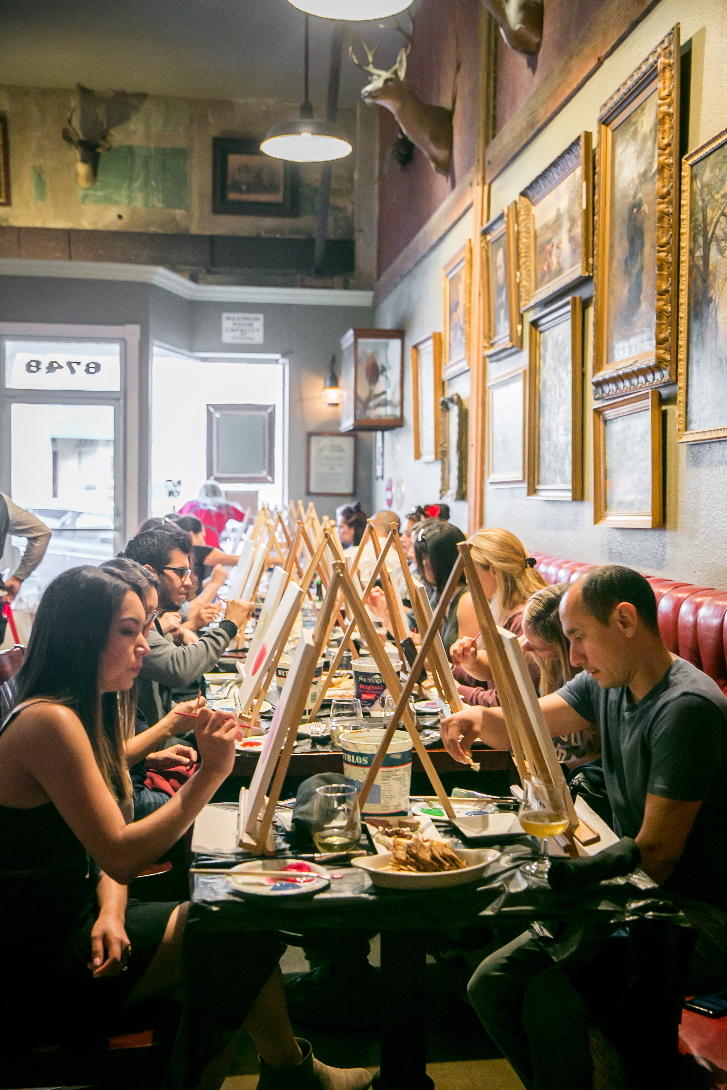Paint night at The Rusty Monk.