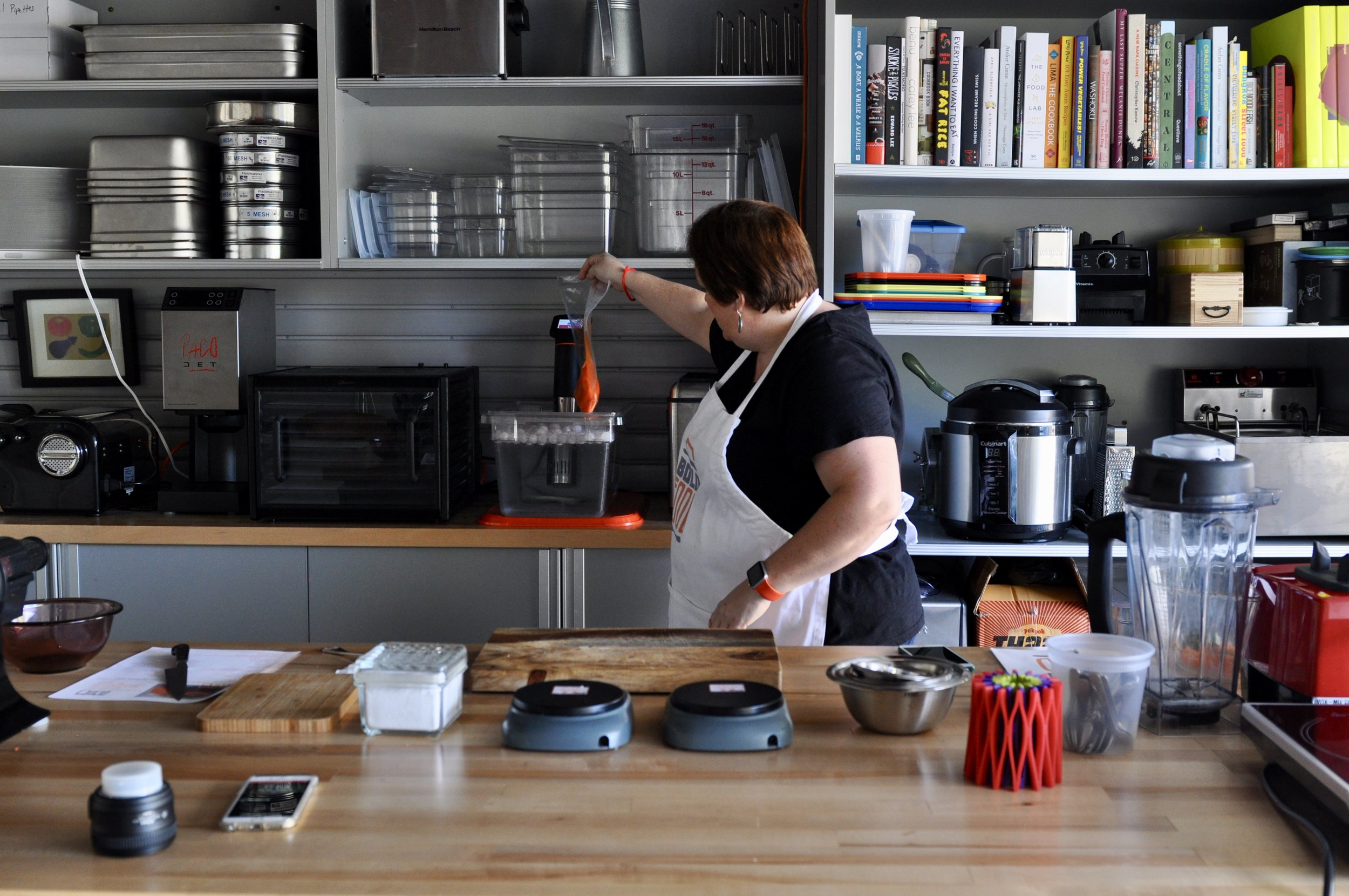 Muffie's tricked-out garage test kitchen
