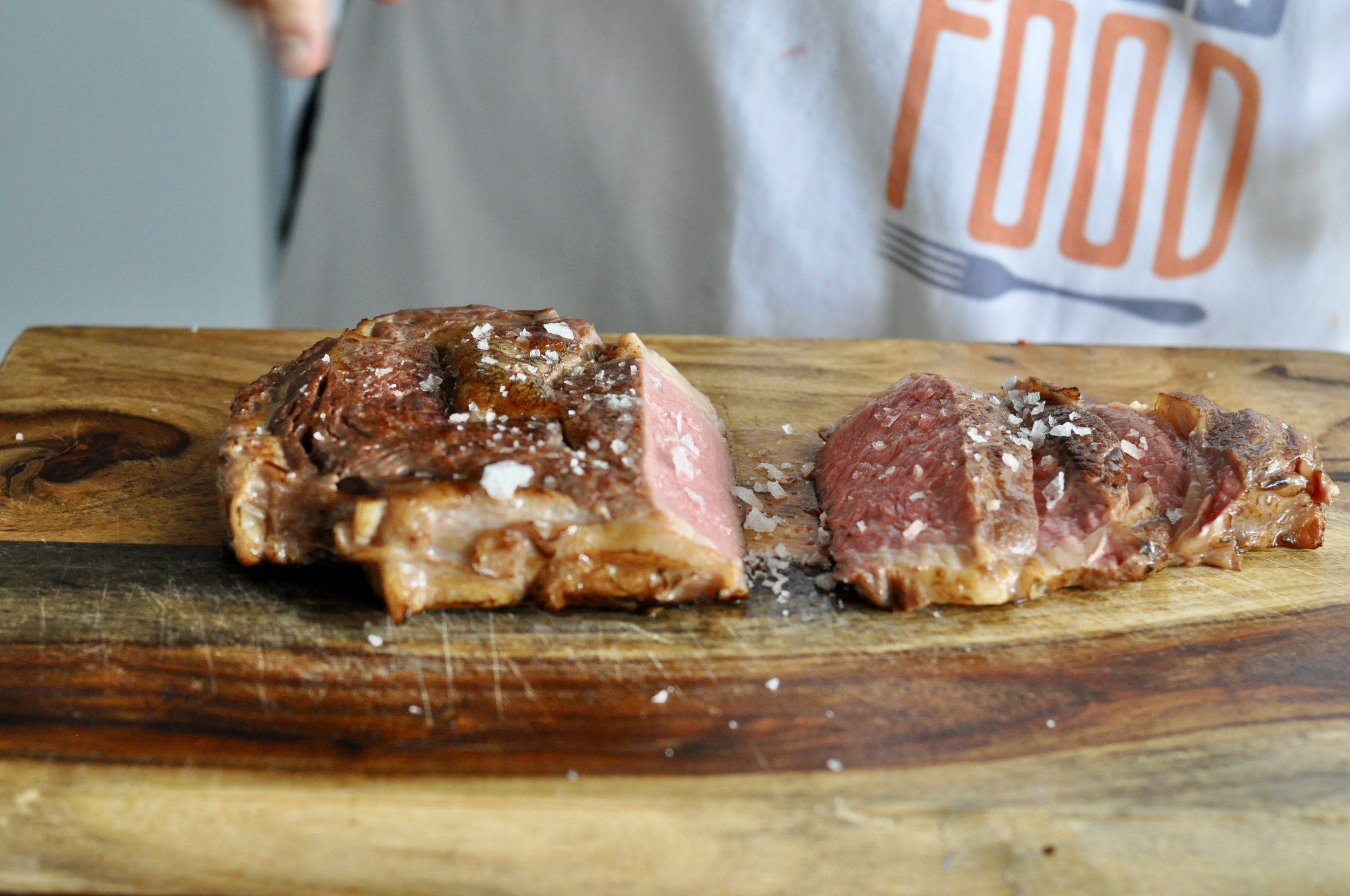 Perfectly pink sous vide steak