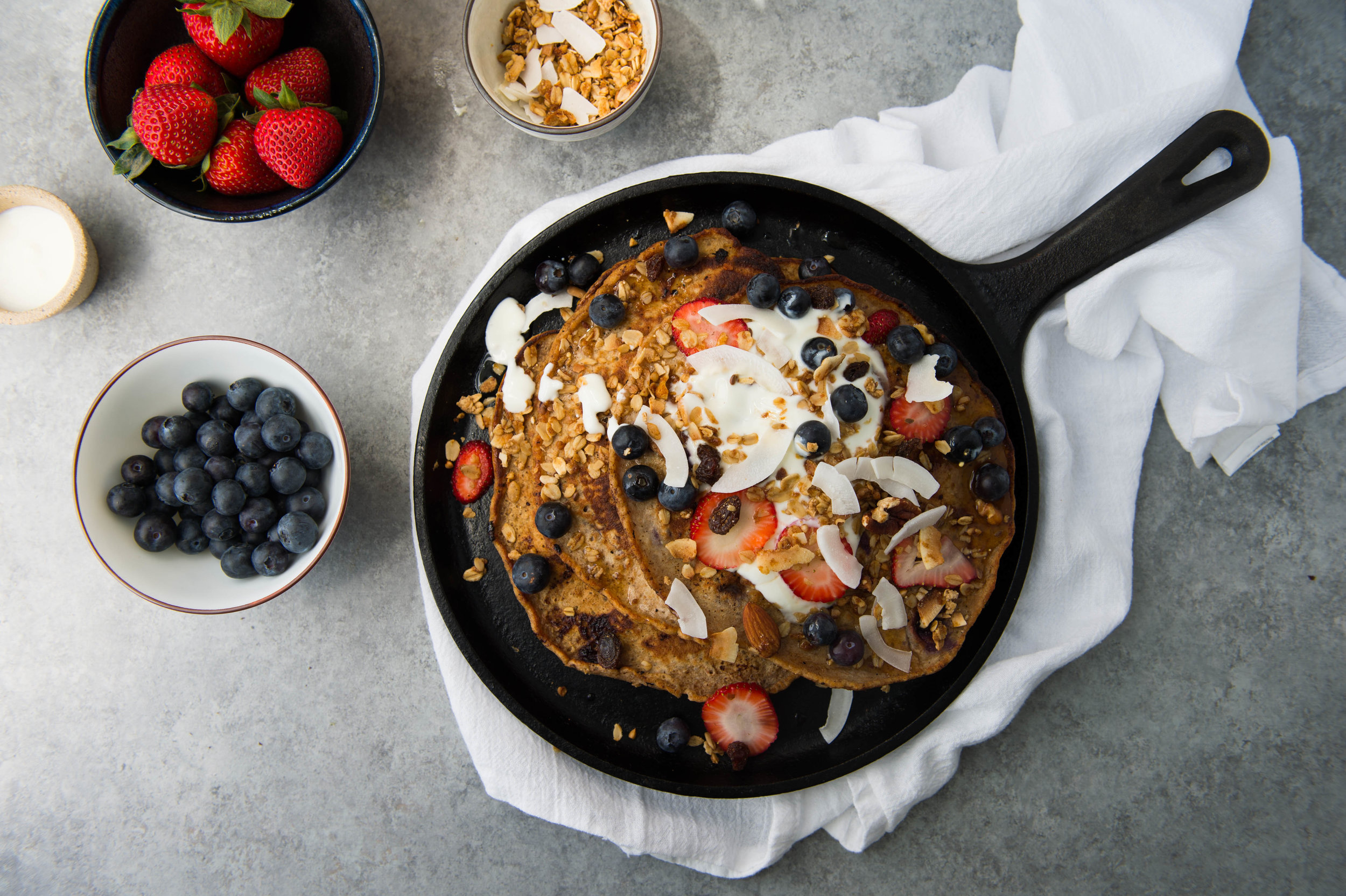 Quinoa blueberry pancakes