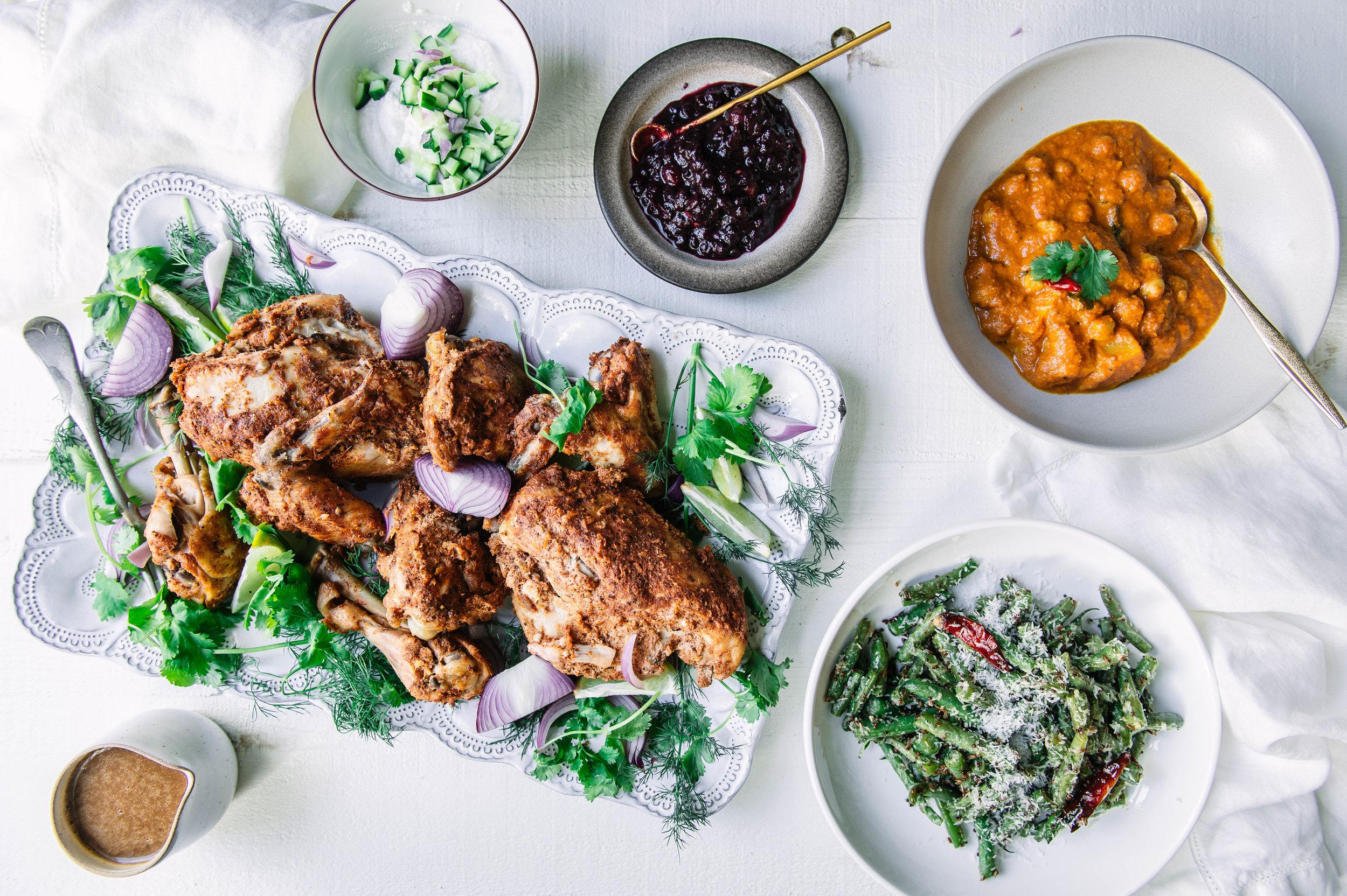 Indian Thanksgiving menu