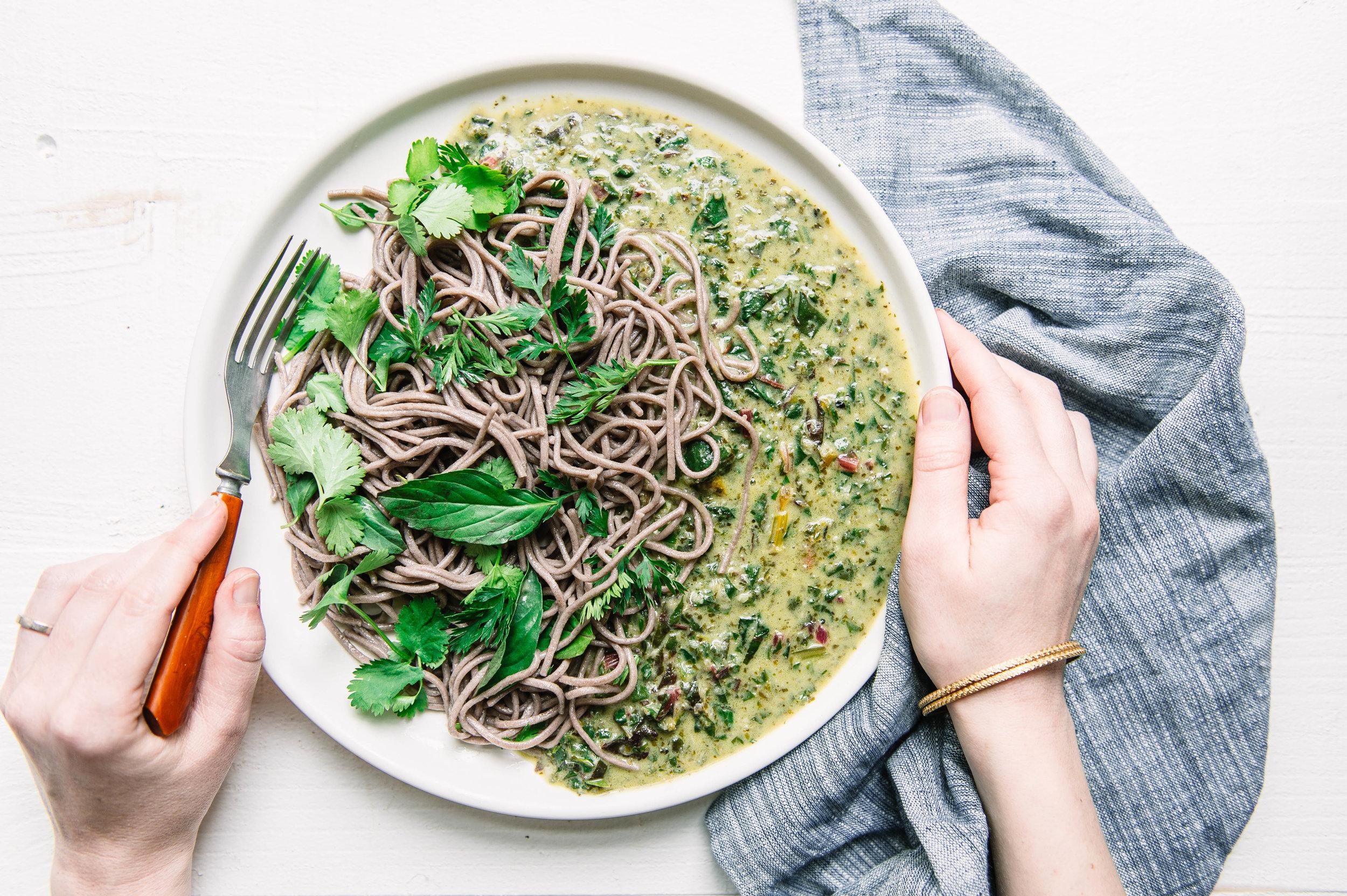 Wasabi green curry