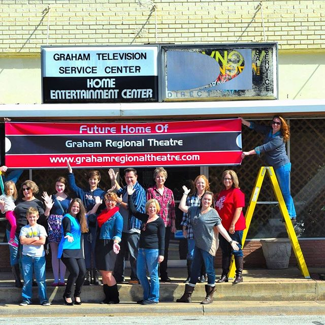 Fun Fact Friday: did you know that Graham Regional Theatre has done 57 shows since its beginning in 2002!(Photo from 2015 when we started working on renovating The Perry)#themoreyouknow #theatre #grahamregionaltheatre