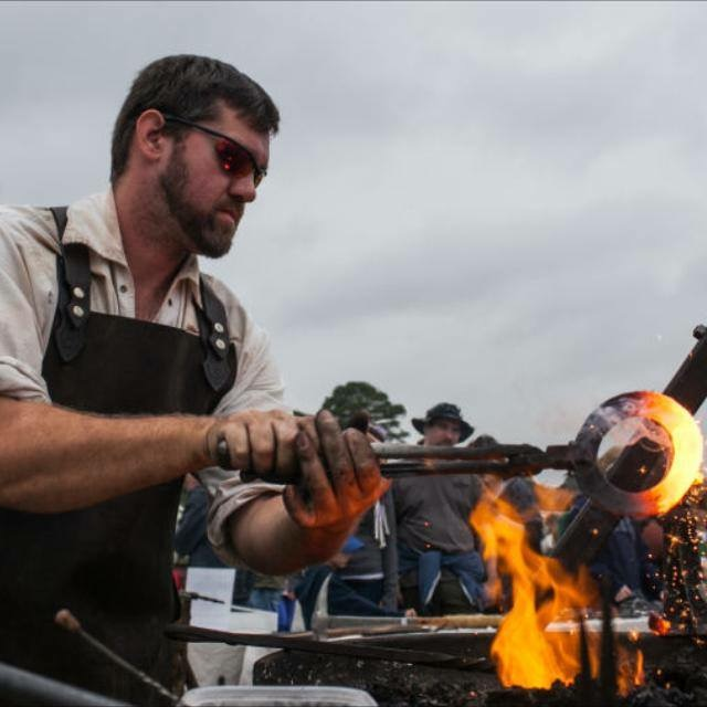 Metal forger Carson Sams will be at the Sugarloaf Crafts Festival in Timonium demonstrating his craft!