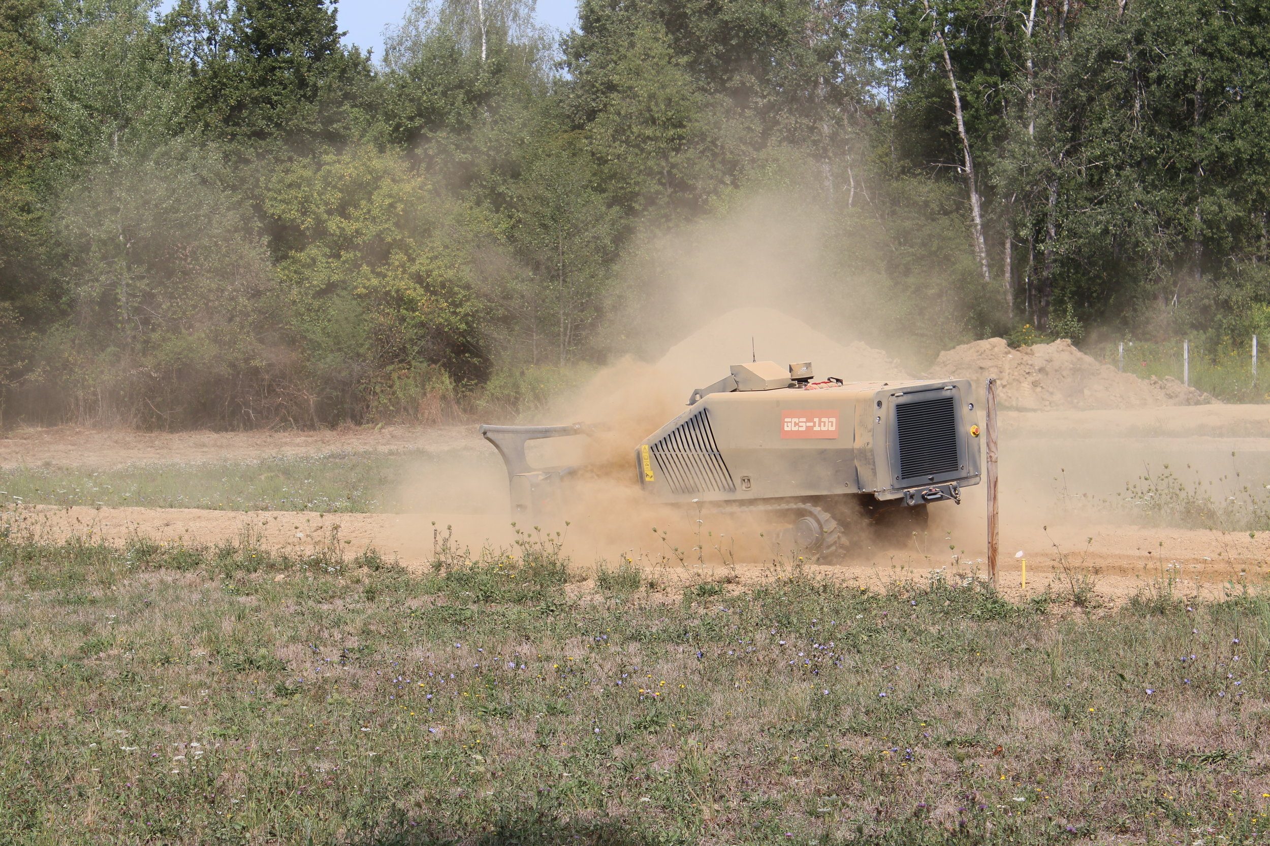 GCS-100 testing at gravel test lane