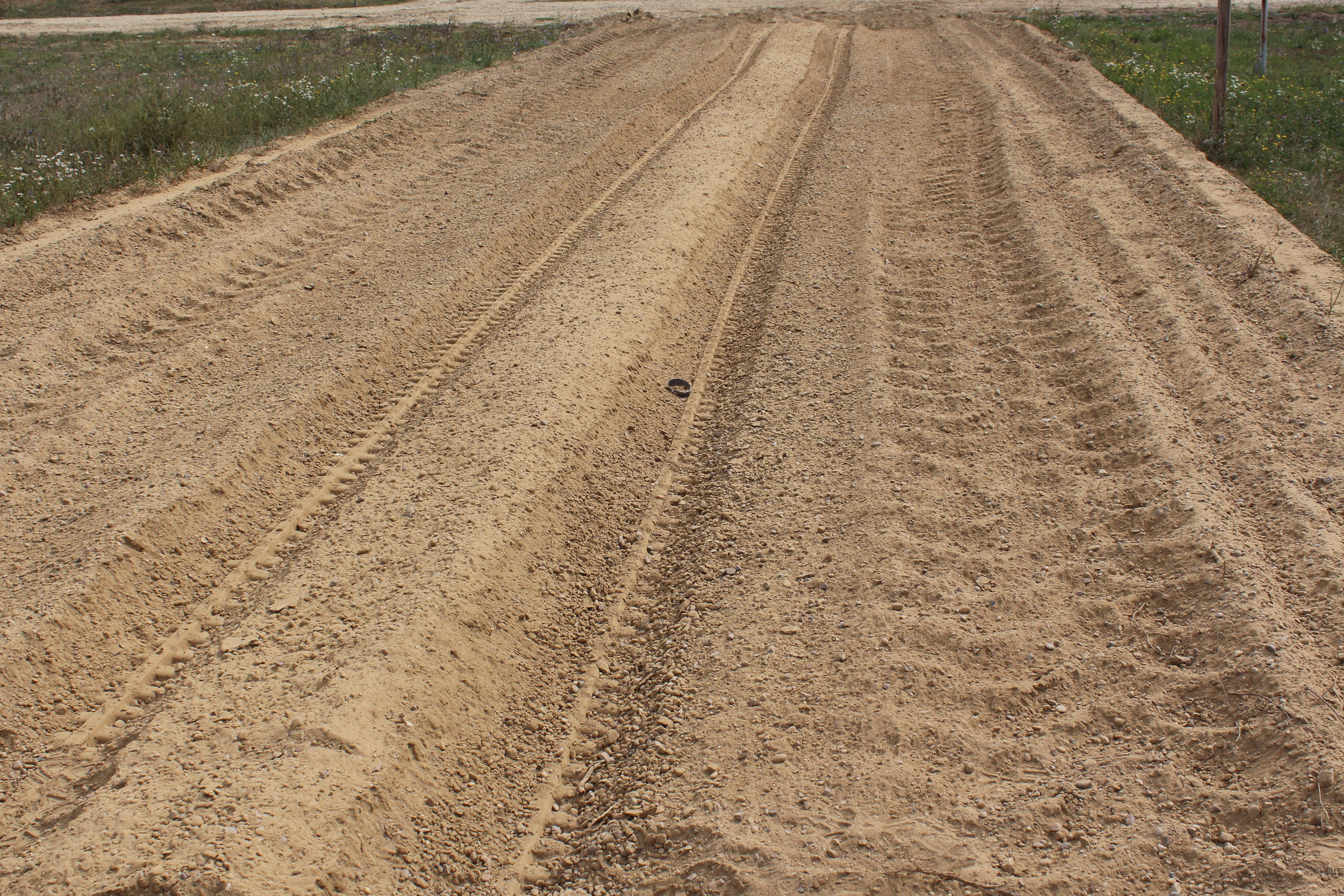 Gravel test lane after GCS-100
