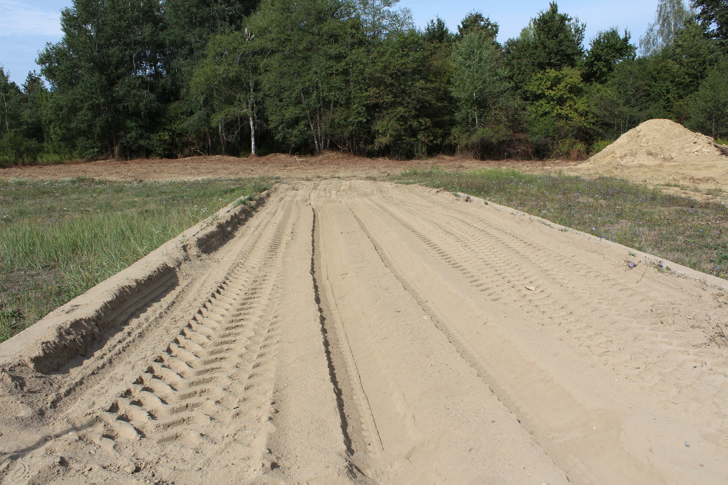 Sand test lane after GCS-100