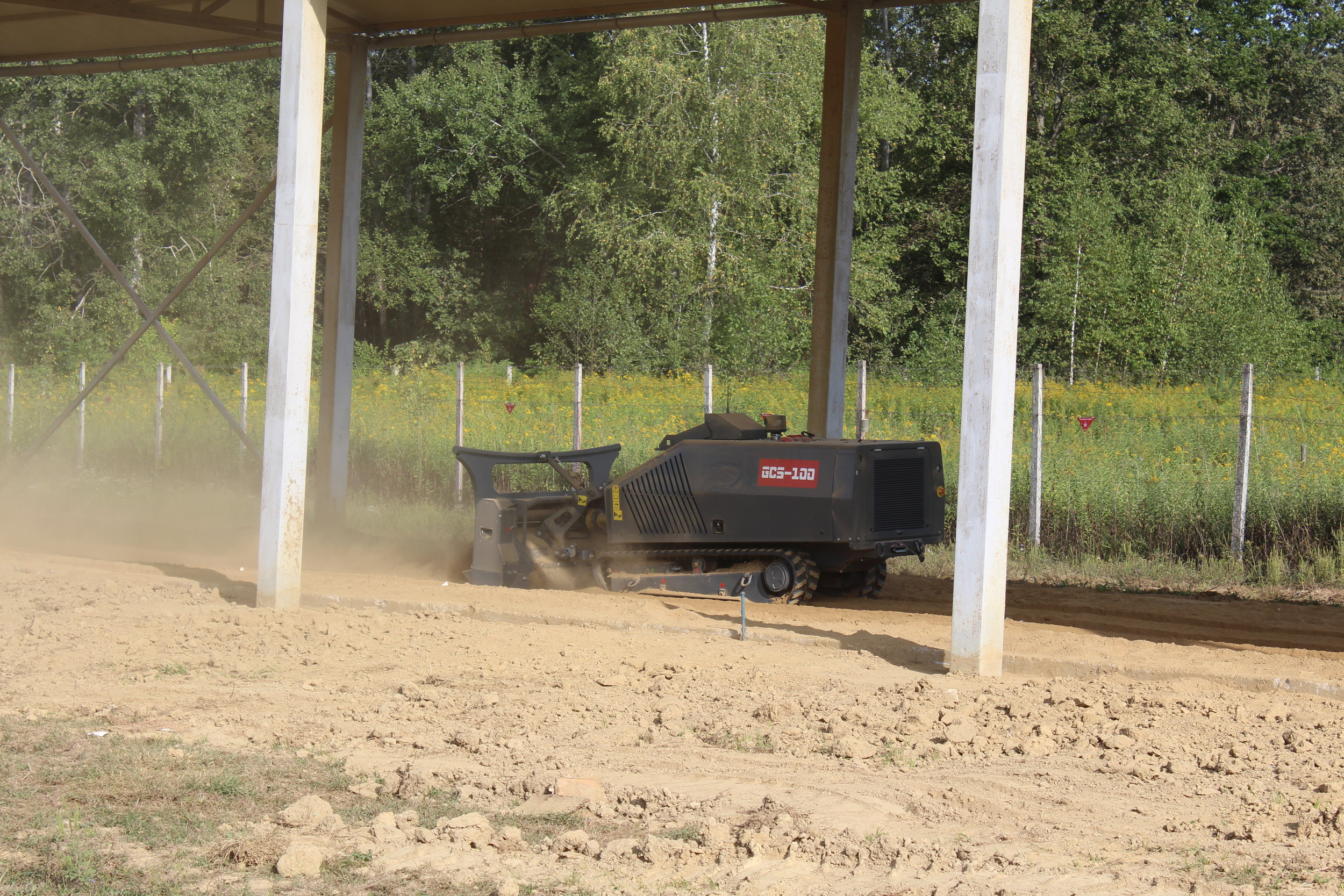 GCS-100 testing at topsoil test lane