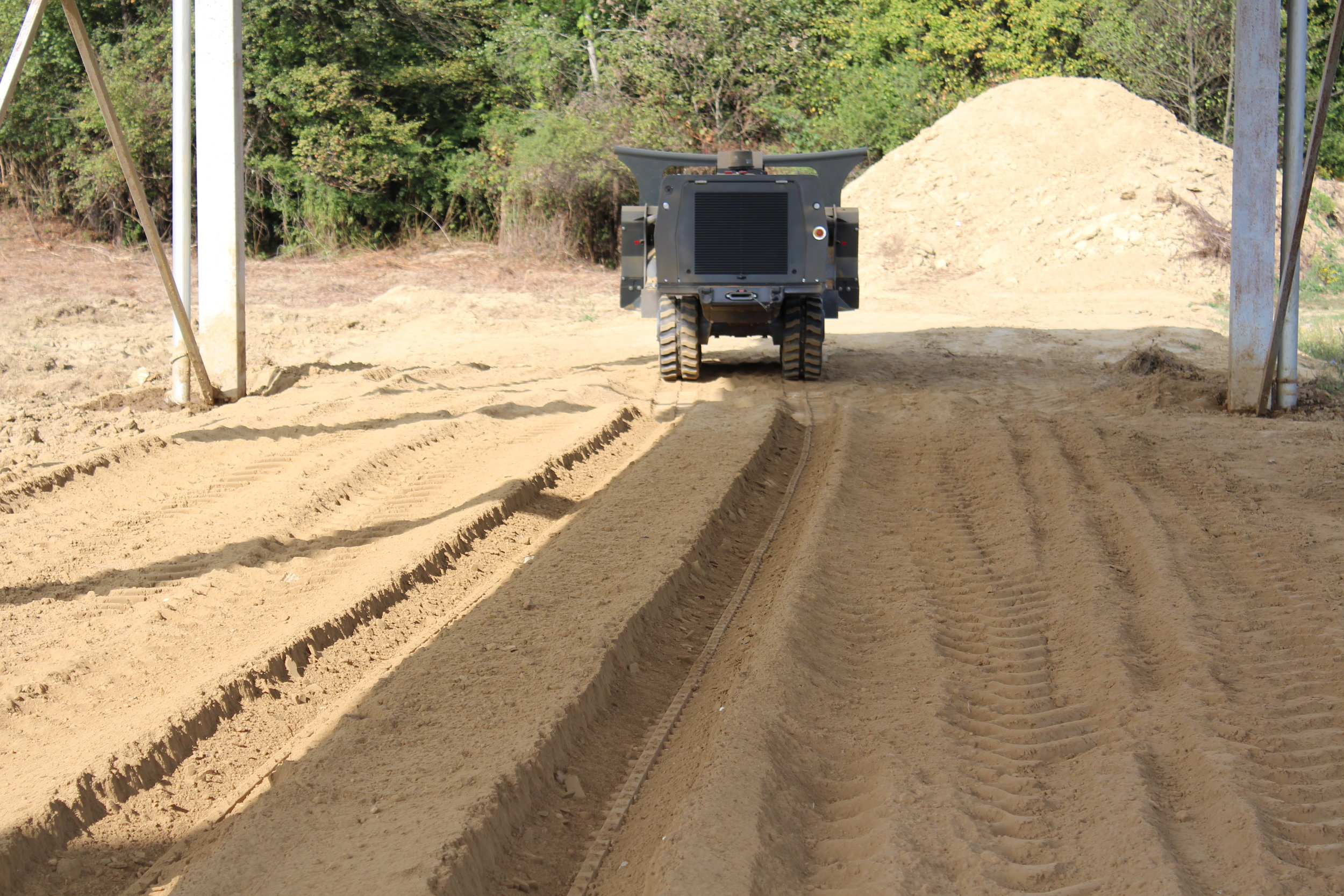 Topsoil test lane after GCS-100
