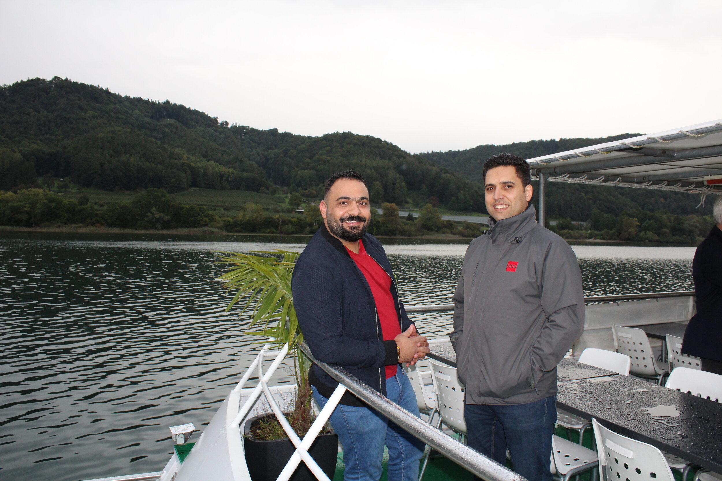 GCS Iraqi Branch Manager Wissam Allamy and Jasim Al Janabi (AKAD International) enjoying the boat trip