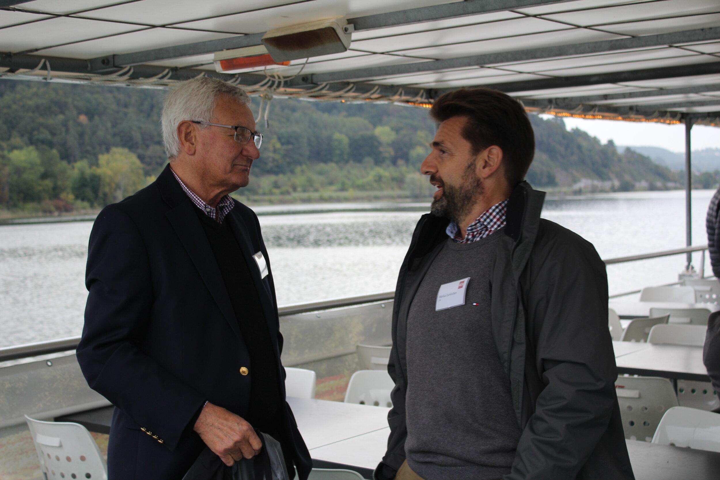 GCS CFO Markus Zurkirchen pictured with Errol de Montille (Intaba Group, US)