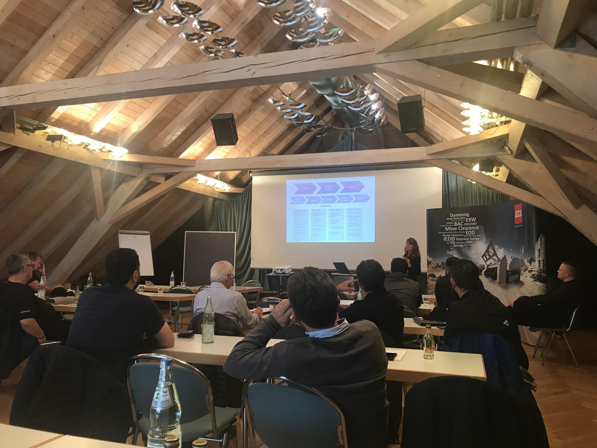 Team-Lead Customer Services, Sandra Lévêque presents ways that GCS can support its partners through the demanding process of export control