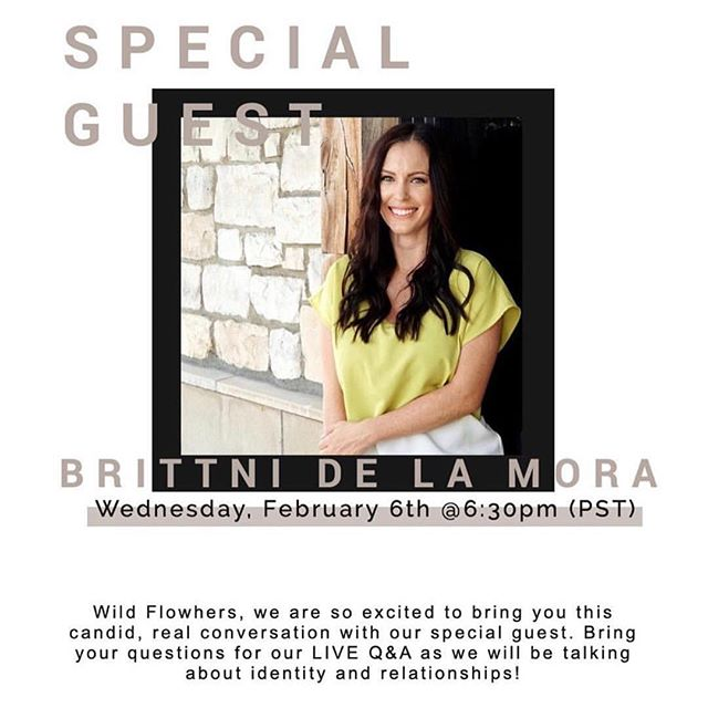 I am very excited to be apart of this online women's bible study. It's totally FREE for ladies only. To be apart of this incredible community and to join me on Wed, Feb 6 - visit WildFlowher.com