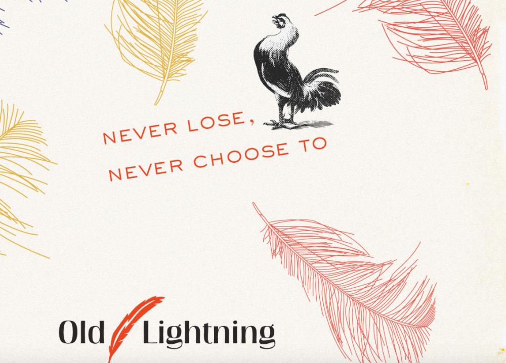 Old Lightning's beautiful website wallpaper