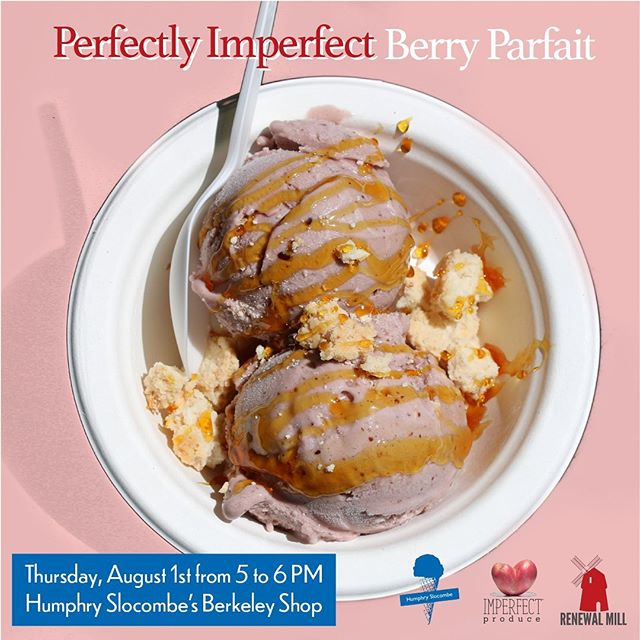 FREE ICE CREAM ALERT 🚨🍨 Next Thursday at the @HumphrySlocombe shop in Berkeley you can enjoy a free scoop on us!  We're partnering with @ImperfectProduce and Humphry on a new vegan berry pie flavor 🥧🌱 It's made with Imperfect berries and coconut Okara cookies!  We hope to see you there!