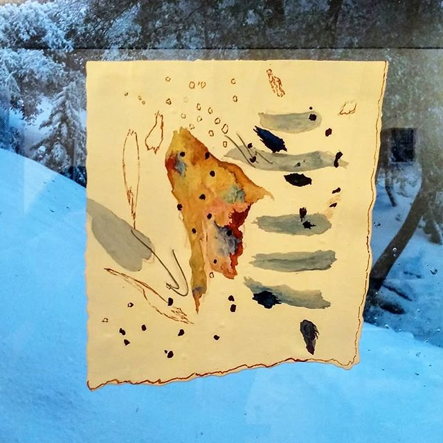 WIP on window; snow . . . . . . . . . . . . . . #monument #painting #drawings #contemporary #abstract #California #yosemite #watercolor #LA #upcycle #artist #yosemite #contemporaryart #sculpturepainting #laart #making #mountains #found #acrylicpainting #tate #penandink #contemporarysculpture #fresnoart. #Chetwood #oaklandartist #submissionfriday #sfmoma #visionreponsesystem