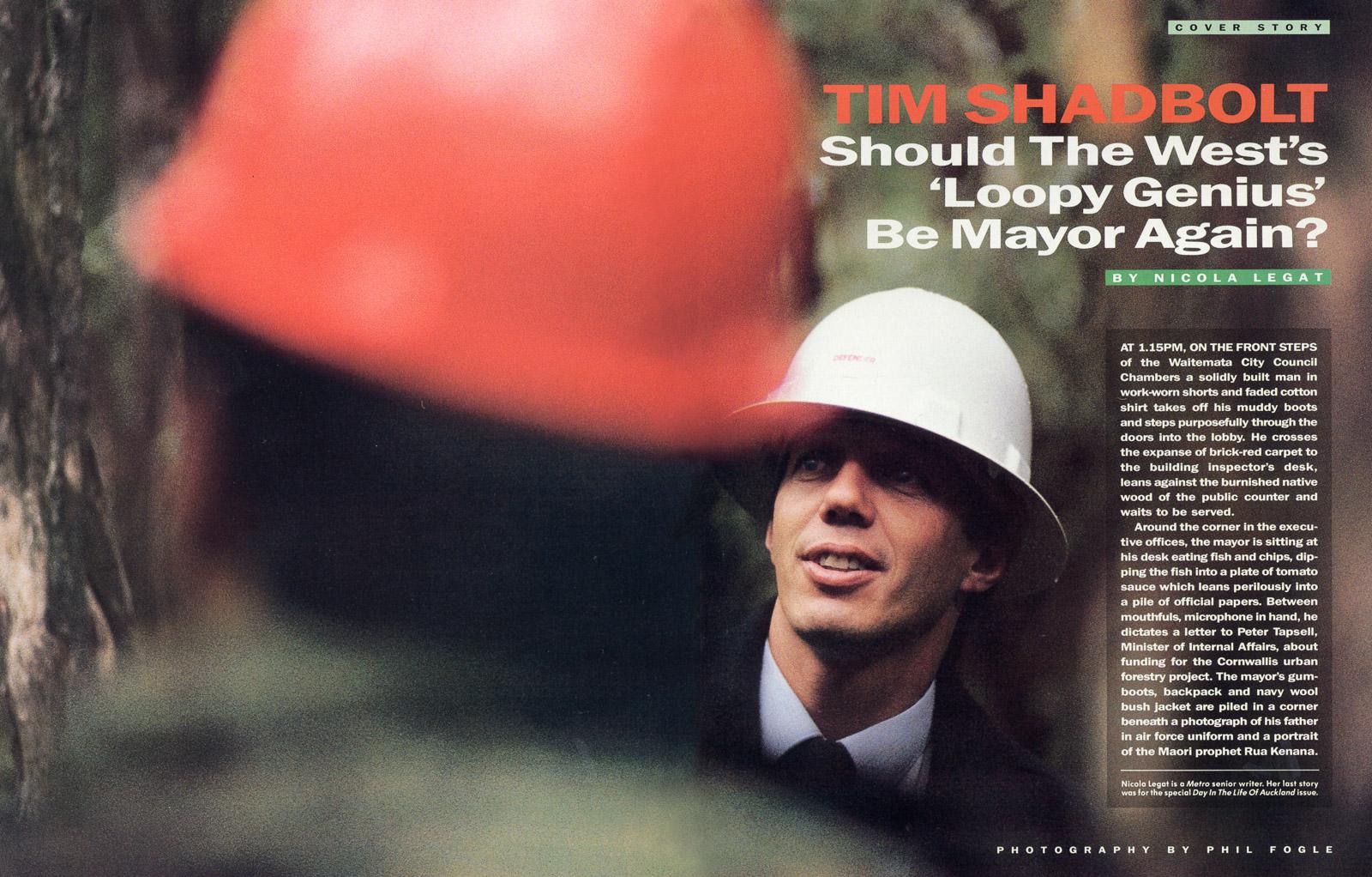 Tim Shadbolt,Mayor of Waitakere