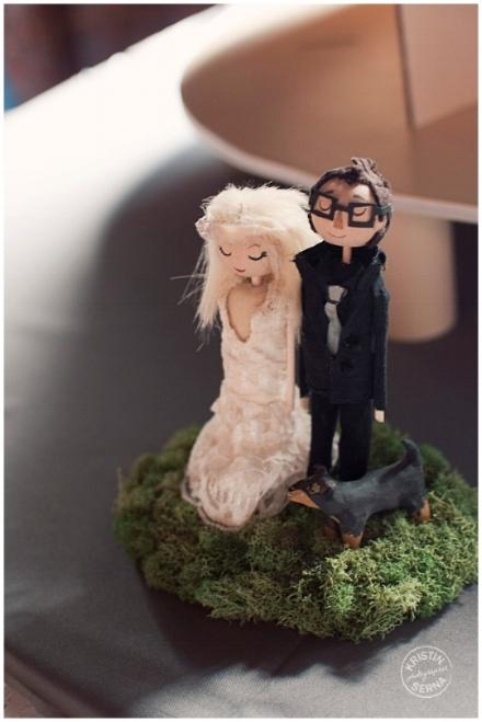 Nashville Wedding Cake Topper Photography by Kristin Serna
