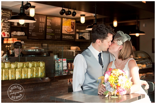 Starbucks wedding photo - By Kristin Serna