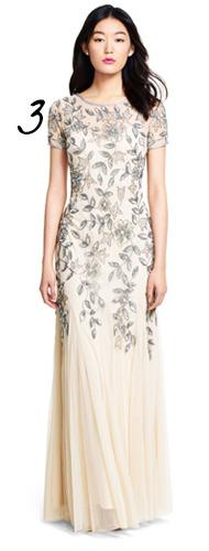 Floral-Patterned Wedding Dress Idea