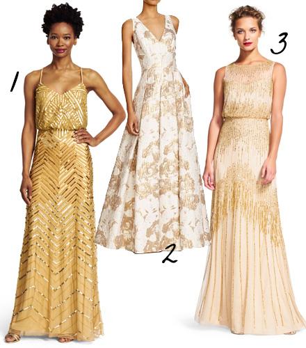Gold Wedding Dress Inspiration