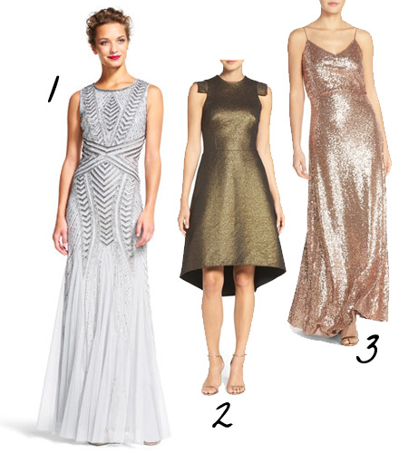 Silver and Copper Wedding Dress Inspiration