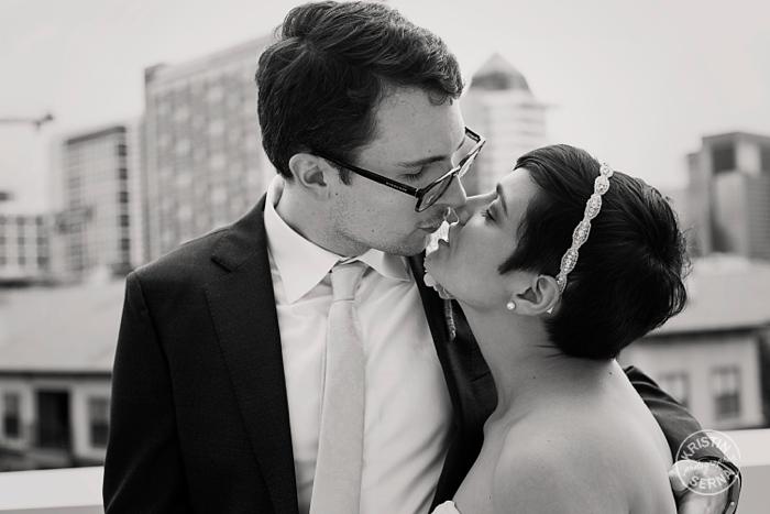 Black and White Wedding Photography by Kristin Serna