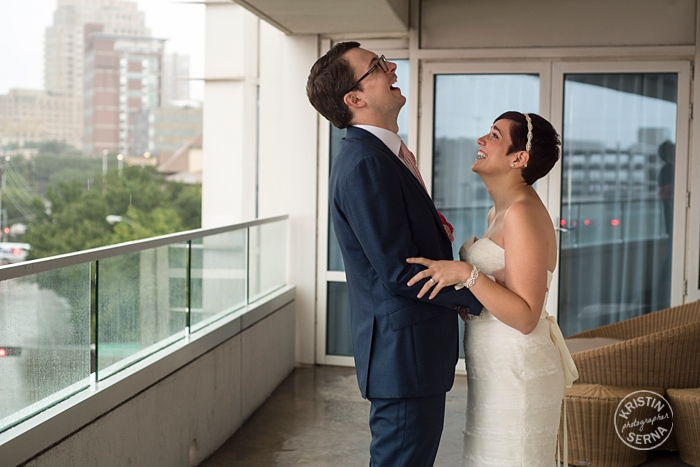 Wedding Day Laughter. Photography by Kristin Serna.