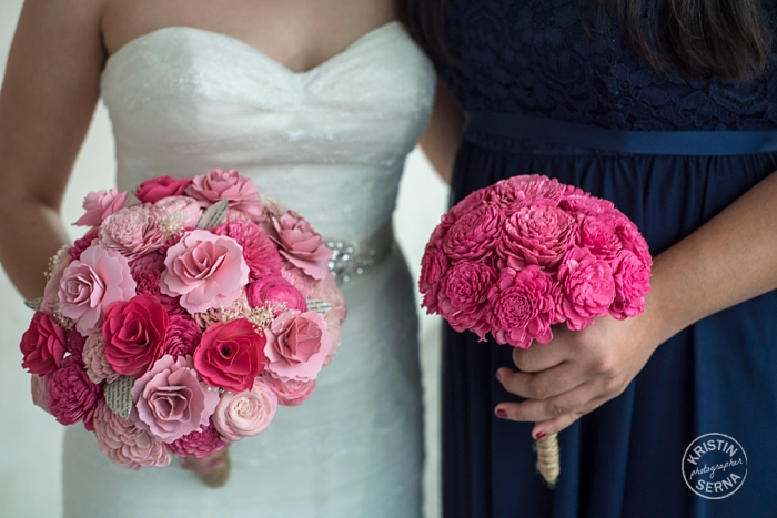 Recycled Book Page Bouquets. Wedding Photography by Kristin Serna.