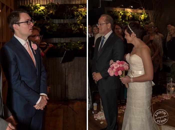 Beginning of the Wedding Ceremony. Photographer: Kristin Serna
