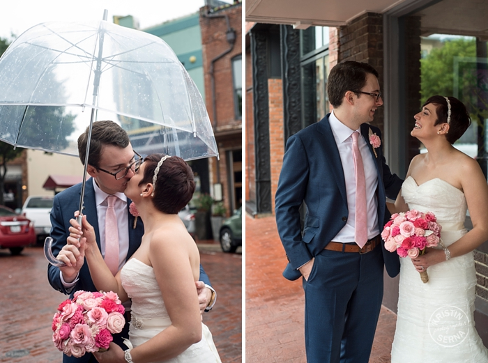 Rainy Day Wedding Photography by Kristin Serna
